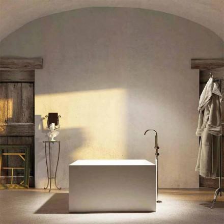 Banheira quadrada autoportante Argentera, produzida 100% na Itália