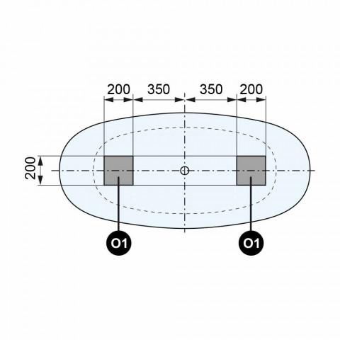 Banheira de Design com Pé Livre, Design de Superfície Sólida - Look