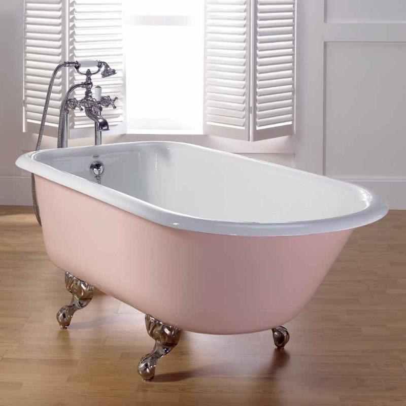 designer banho decorado com pernas de ferro fundido pintado Sally