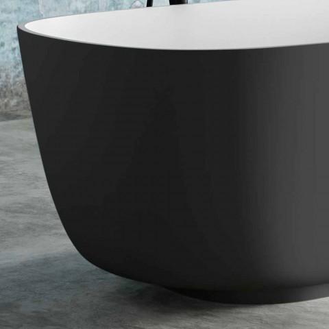 Banheira bicolor em cinza, em Solid Surface - Canossa