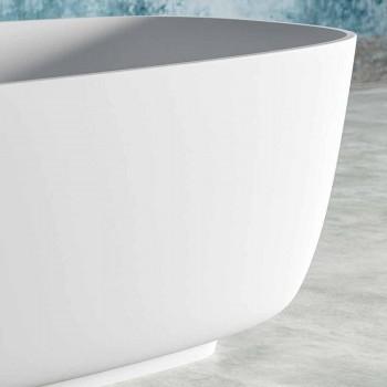 Banheira de design moderno, em Solid Surface - Canossa