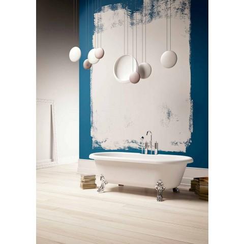 Design Free Standing Bath, pés no acabamento cromado - livre