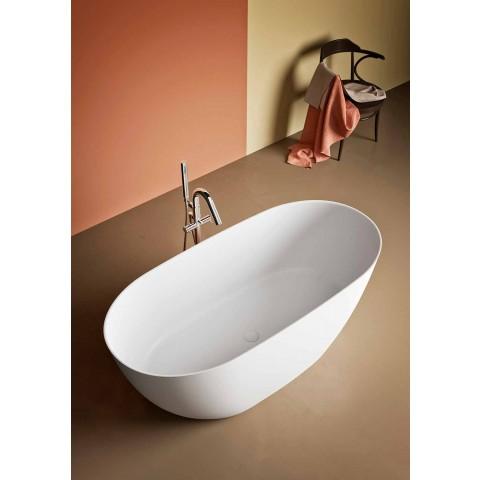 Banheira de pé livre, fabricada na Itália, em Solid Surface - Flow