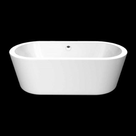 Nicole Banheira autônoma de acrílico branco pequeno 1675x777 mm