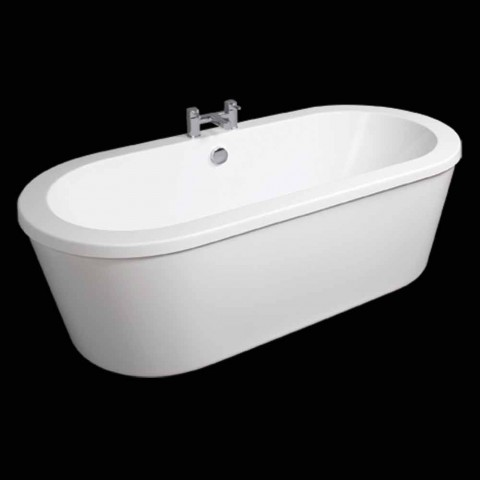 Banheira autônoma branca moderna de abril 1800x830 mm