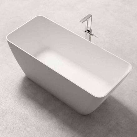 Banheira autônoma de design moderno brilhante ou branco mate - rosto