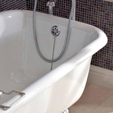 Banheira autônoma de design vintage em ferro fundido branco, fabricada na Itália - Marwa