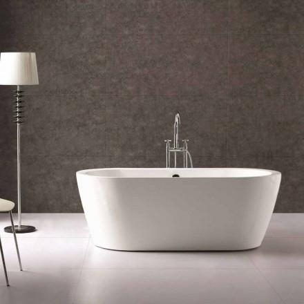 Nicole 1775x805 mm banheira design branco autônoma em acrílico