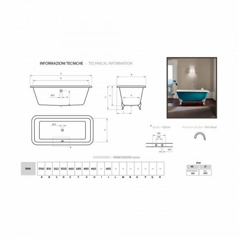 Design de banho de ferro fundido autônomo com pés decorados Wanda