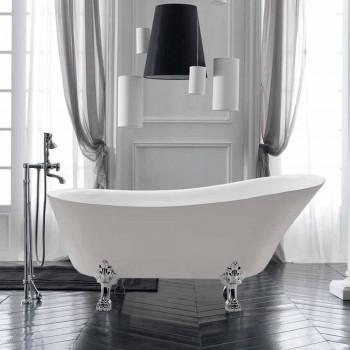 Banheira autônoma branca de 1700 x 720 mm em acrílico branco