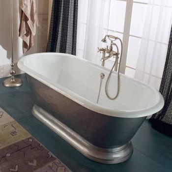 Banheira autônoma em ferro fundido estilo Vintage, fabricada em Itália - Orsola