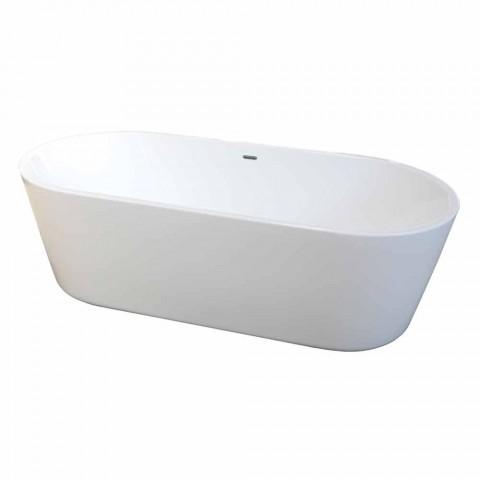 Banheira autônoma moderna em acrílico branco 1675x780mm Nicole2 Small