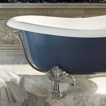 Banheira autônoma de resina azul em design clássico, Fregona