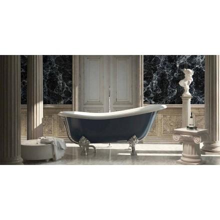 Banheira de resina azul autônoma de design clássico, Fregona made in Italy