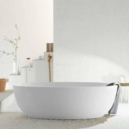 Modern monobloco banheira oval feita na Itália, Frascati