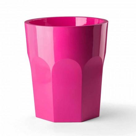 Vaso decorativo alto com formato de vidro em polietileno Fabricado na Itália - Pucca