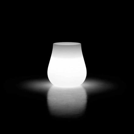 Vaso com design luminoso externo em polietileno fabricado na Itália - Monita