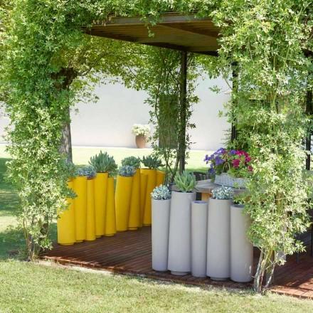 Design moderno ao ar livre vaso decorativo Slide Bambu, made in Italy