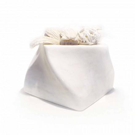 Vaso Decorativo em Bardiglio ou Mármore Carrara Fabricado na Itália - Prisma