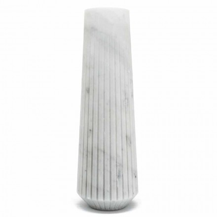 Vaso decorativo moderno de mármore branco de Carrara fabricado na Itália - Cairo