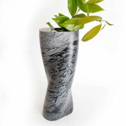 Vaso decorativo moderno em mármore Bardiglio Fiorito Made in Italy - Dido