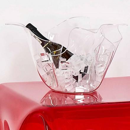 Vaso exterior / interior transparente, design moderno Pina, fabricado em Itália
