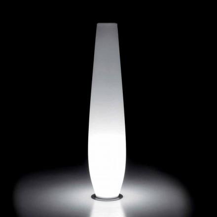 Vaso Luminoso Externo com Luz LED em Polietileno Fabricado na Itália - Nadai
