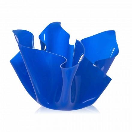 Pote azul ao ar livre / interior com um design moderno Pina, fabricado na Itália