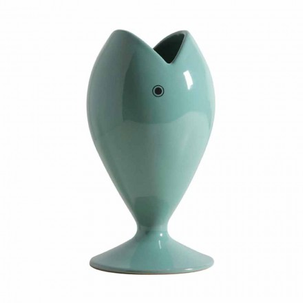 Vaso de flores de cerâmica artesanal moderno feito na Itália - Sea Bream