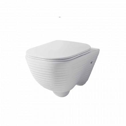 Vaso sanitário moderno suspenso em cerâmica branca ou colorida Trabia
