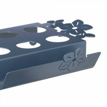 Bandeja de Café Moderna com Flores em Ferro Azul, Branco ou de Lama - Marken