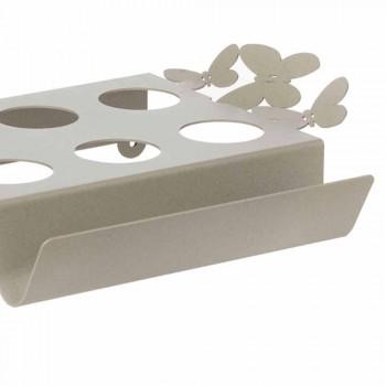 Bandeja de café branca, bege ou marfim com design em ferro fabricada na Itália - Leiden