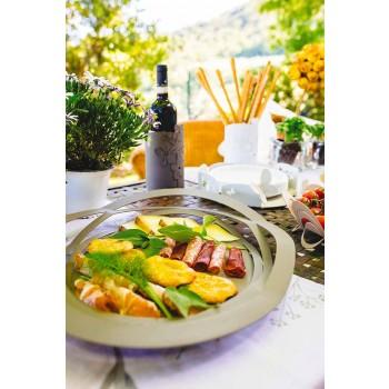 Bandeja de cozinha moderna de ferro feito à mão, fabricada na Itália - Futti