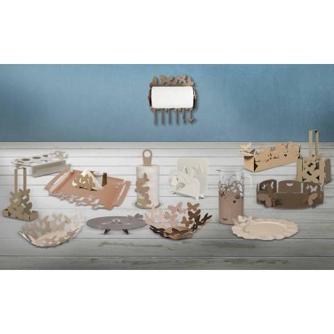 Bandeja de servir para design de ferro, produção artesanal italiana - Leiden