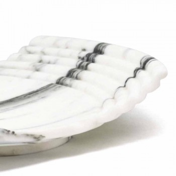 Bandeja decorativa curva em mármore Arabescato fabricado na Itália - Clifton