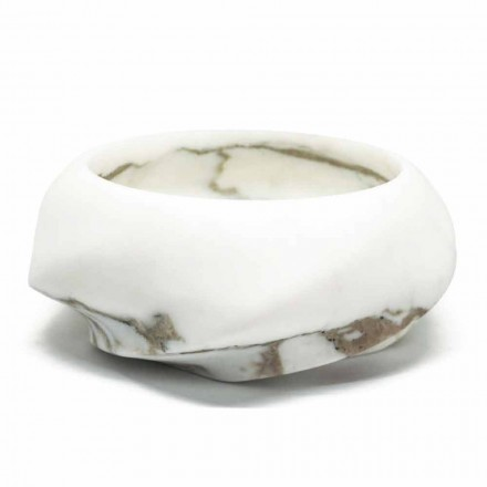 Bandeja redonda em mármore Arabescato fabricada na Itália - Casimir