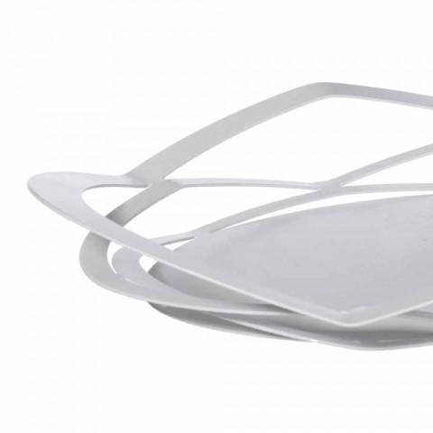 Bandeja de design moderno em ferro feito à mão, fabricada na Itália - Futti