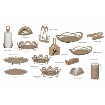 Bandeja pequena com design moderno artesanal, fabricada em Itália - Futti