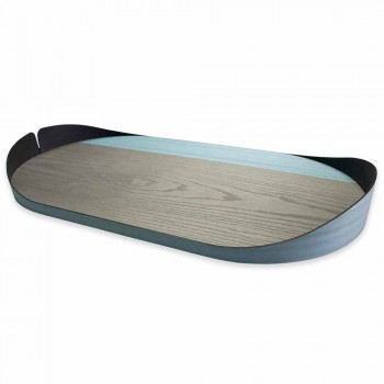 Bandeja retangular moderna em madeira natural natural Made in Italy - Stan