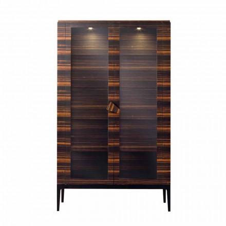 Armário de madeira maciça de design Grilli Zarafa com 2 portas fabricadas na Itália