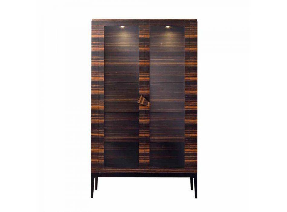 Armário de madeira maciça Grilli Zarafa com 2 portas feitas na Itália de design