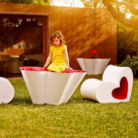 Vondom Agatha mesa e vaso de flores em polietileno, design moderno
