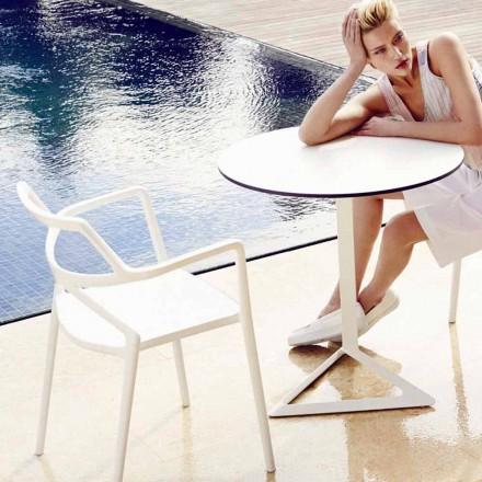 Cadeira ao ar livre Vondom Delta em polipropileno, design moderno, 4 pedaços