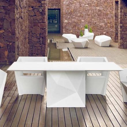 Mesa ao ar livre lacada Vondom Faz, 200x100 cm, design moderno