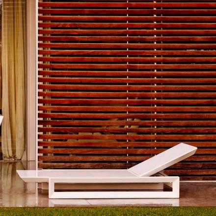 Vondom Frame espreguiçadeira em polietileno branco, design contemporâneo