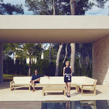 Vondom Frame sala de estar ao ar livre definido em polietileno, design moderno