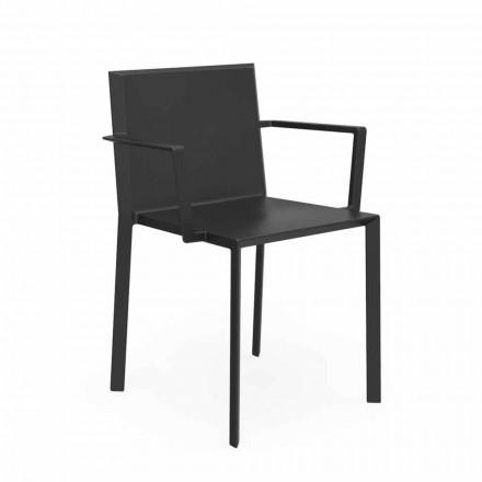 Vondom Quartz cadeira de jardim com braços, design moderno, 52x57xH79 cm, 4 pedaços