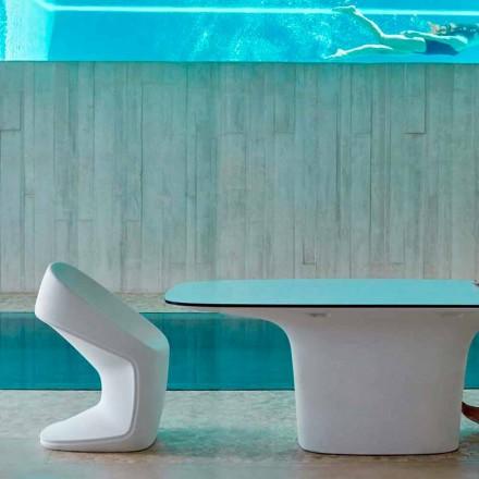 Vondom Ufo cadeira ao ar livre branca, design moderno 56x62x83 cm