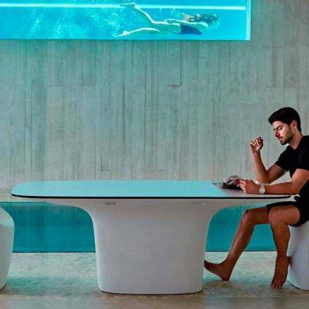 Vondom Ufo mesa de jantar ao ar livre, design moderno 200x100 cm