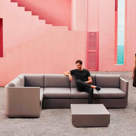 Vondom Ulm taupe conjunto de sala de estar ao ar livre, design moderno